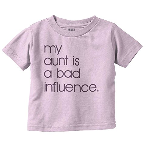 Brisco Brands Aunt Bad Influence Funny Shirt | Cool Adult Gift Nephew Niece Toddler Infant T (Funny Adults Shirt T-shirt)