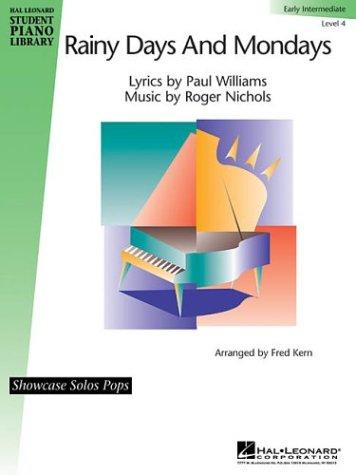Rainy Days and Mondays: Level 4 - Early Intermediate Showcase Solos Pop Sheet