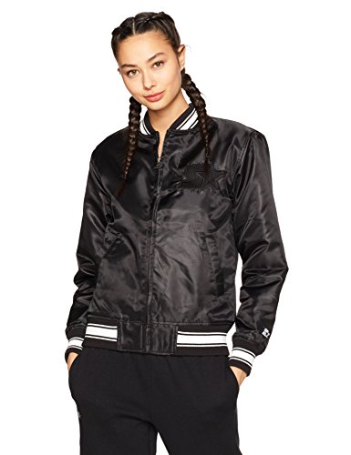 Starter Women's Insulated Bomber Jacket, Amazon Exclusive, Black, Large