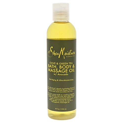 Body Oz 8 Oil (SheaMoisture Olive/Green Tea Bath, Body & Massage Oil, 8 Ounce)