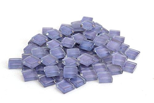 Milltown Merchants 4/10 Inch (10mm) Crystal Glass Mosaic Tile, 1 Pound (16 oz. Bag) (1 Pound, Purple)