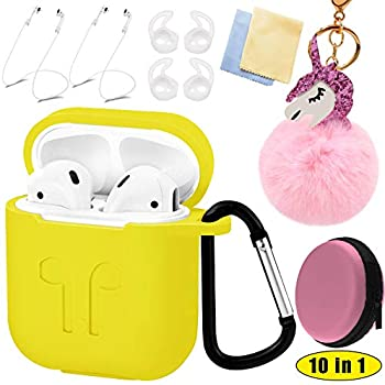 Amazon.com: Apple Airpods Funda 2 & 1 Cover Accesorios Kits ...