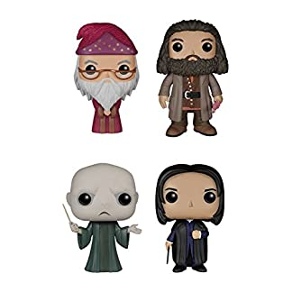 Pack figurines pop : Dumbledore, Hagrid, Voldemort, Snape Action Figure