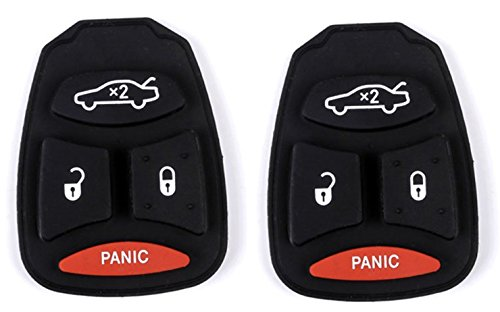 2PCS Replacement fit for Uncut 433MHz Keyless Entry Remote Car Key Fob for 08 09 10 11 12 13 Dodge Durango Key fob Chrysler Dodge Volkswagen M3N5WY783X