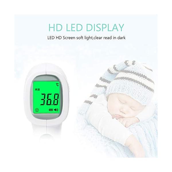 OWSOO Termómetro de Frente, Sin Contacto, Termómetro Digital Infrarrojos para Bebe, Niños, Adultos 10