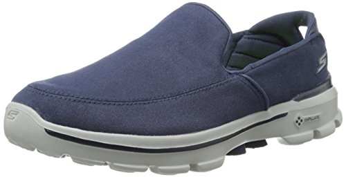 Performance Skechers Mens Go Walk 3 Atteindre Chaussure De Marche Slip-on Marine