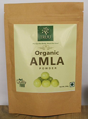Organic Amla Powder 7 oz, USDA Certified 100% Pure Amalaki Powder – Fresh, Vegan & Natural Non-GMO, Gluten-Free Indian Gooseberry Powder in Resealable Bag For Sale