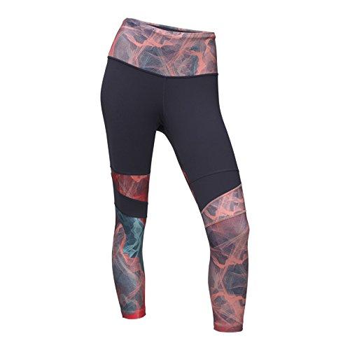 's Motivation High-Rise Printed Crop Pants, Urban Navy/Desert Flower Orange Topo Mountain Print - X-Large ()