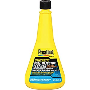 Prestone AS731-12PK Synthetic Fuel Injector Cleaner with 0 to 60 Booster, 16 oz. (Pack of 12)