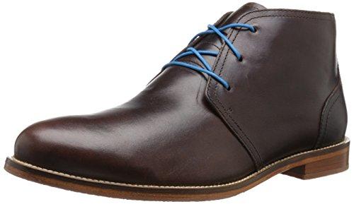 J. Zapatos Hombres Monarch Botines Con Cordones Marrón Oscuro