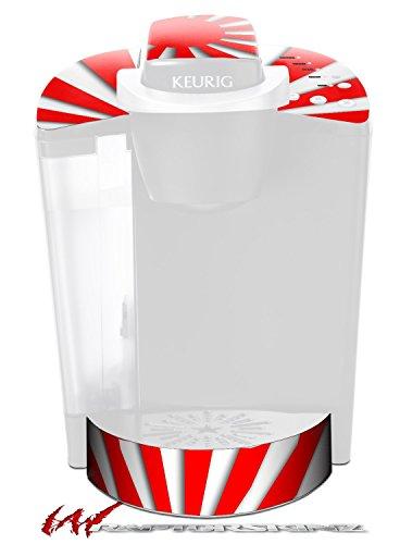 Rising Sun Japanese Red - Decal Style Vinyl Skin fits Keurig K40 Elite Coffee Makers (KEURIG NOT INCLUDED) by WraptorSkinz