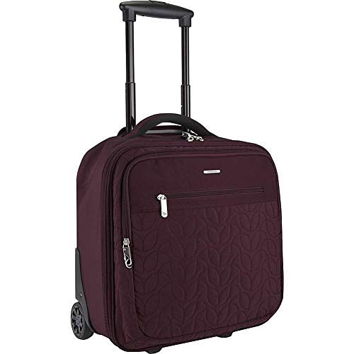 Travelon: Quilted Anti-Theft Wheeled Underseat Carry-On Bag with RFID Protection - Dark Bordeaux