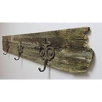 Reclaimed Barn Wood Fleur de Lis Coat Hooks Hanger Rack. Hat hooks, robe hooks, mudroom hooks.