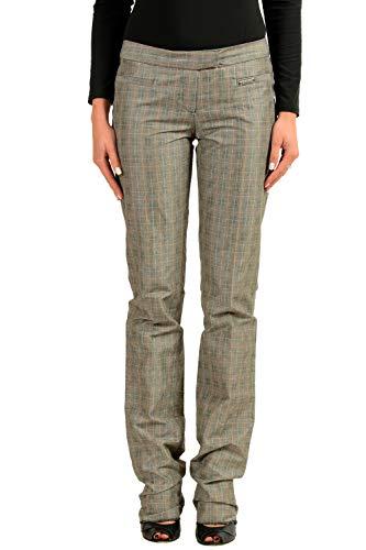 John Galliano Women's Plaid Casual Pants US 26 IT 40