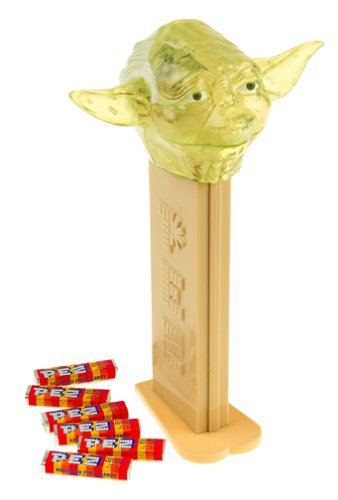 Star Wars GIANT PEZ ~ TRANSLUCENT GREEN YODA ~Limited