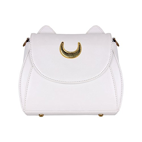 Designer Satchel Kitty Luna Handbag Shoulder Sailor PU White Cat Cute Tote Women Moon Leather Bag qRwaFWUx4