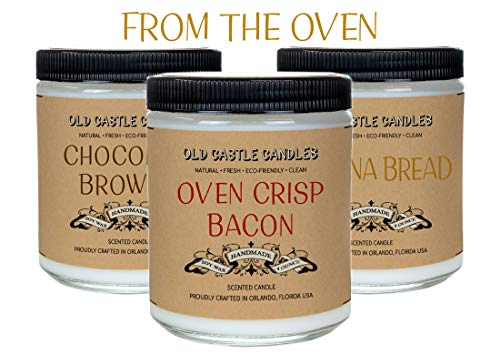 (From the Oven Candle Set, Food Lovers Chefs Gift, Pantry Decor (3) 4oz Candles)