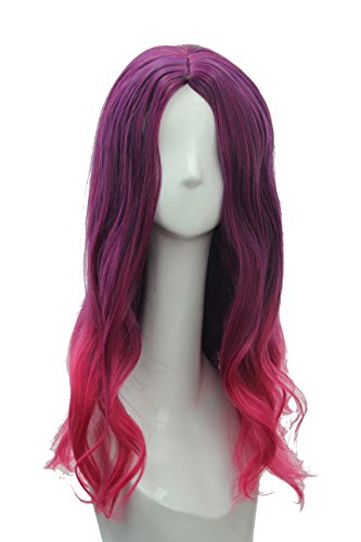 Soul Wigs: Gamora Wig Inspired by Guardians of the Galaxy Women's Long Wavy Purple Pink Ombre Hair Party Costume Cosplay Wig ()