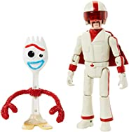 Disney Pixar Toy Story 4 Storytelling 2-Pack with 3 in / 10.92 cm-Tall Forky and 5.9 in / 14.99 cm-Tall Duke C