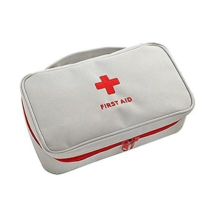 xxguo Portá til vací o Kit de primeros auxilios bolsa oficina en casa vací a mé dicos bolsa (Gris)