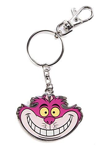 Disney Monogram Cheshire Cat Pewter Keychain -