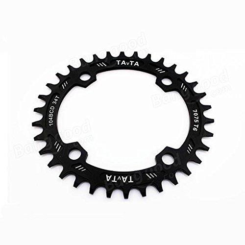 Bazaar Vtt 34t plateau bcd104mm vélo pédalier pignon chaîne de roue de bicyclette de vitesse d'anneau