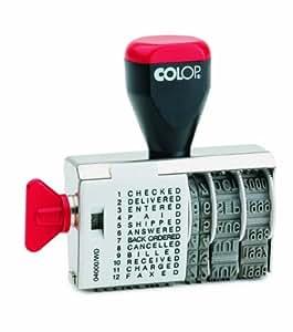 Colop 04000/WD - Sello fechador con texto en inglés
