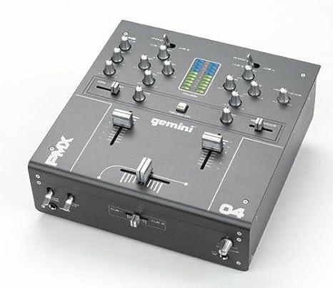 Gemini PMX-04 - Mesa de mezclas (2 canales): Amazon.es ...