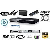 Panasonic DVDS700 Multiregion 1080p Upscaler DVD/CD Player with HDMI/SCART/RCA/USB connection Remote inc wallet