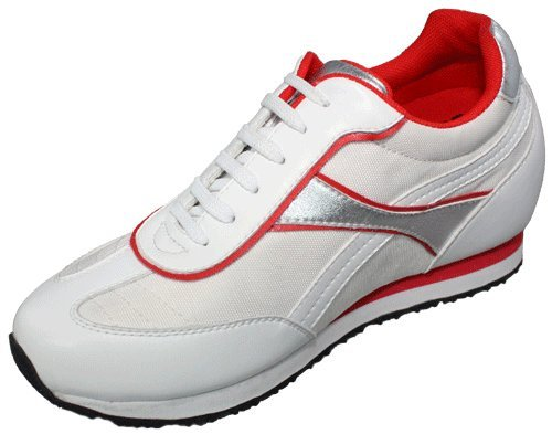TOTO - WE1509 - 3.2 Inches Taller - Height Increasing Elevator Shoes - White - Women 6LNhlolf8