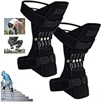 Joint Support Knee Pads (Upgrade) - Power Lift Knee Stabilizer Pads - Powerful Rebound Spring Force Knee Protection Booster - Joint Pain Relief Knee Brace for Climbing, Squat, Exercising