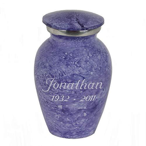 Perfect Memorials Custom Engraved Lavender Keepsake Cremation Urn