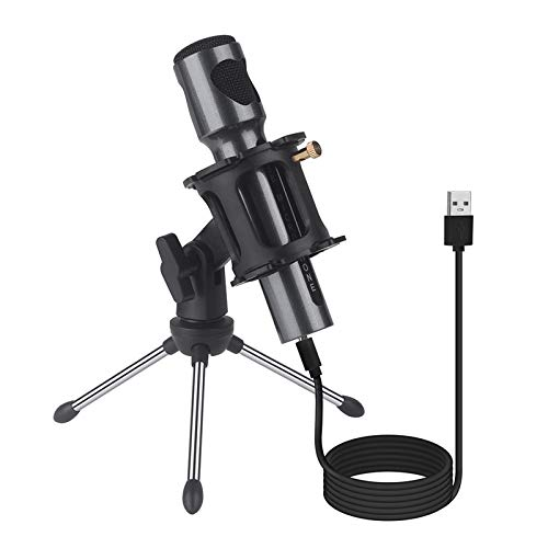 USB Condenser Microphone for Computer,Play & Plug Desktop Streaming Mic, Recording Microphone for Windows, Mac, Type-c Phone, PS4, Metal Studio Microphone for Gaming/Podcast/YouTube/Chatting