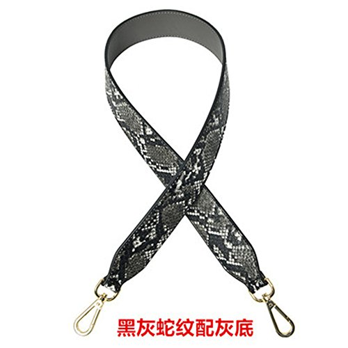 - Length 35 inches Belt Wide 4cm PU Leather Mini Purse Bag / Handbag Replacement DIY Strap replacement purse straps DIY (Serpentine Gray)