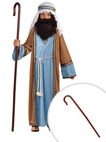 Biblical Joseph Costume Kit Kids Small Deluxe With Shepards -