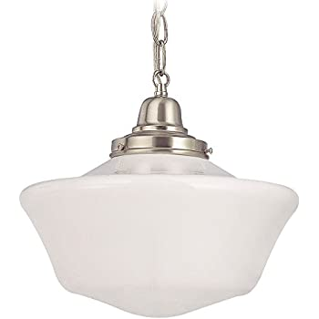 12 inch schoolhouse pendant light with chain amazon 12 inch schoolhouse pendant light with chain aloadofball Image collections