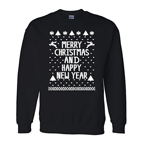 Men's Merry Christmas Happy New Year Sweatshirt
