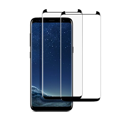 Coopsion Galaxy S8 Plus Screen Protector Case Friendly Full Coverage Tempered Glass Screen Protector for Samsung Galaxy S8 Plus/8+ Case Friendly 2Pack(Black)