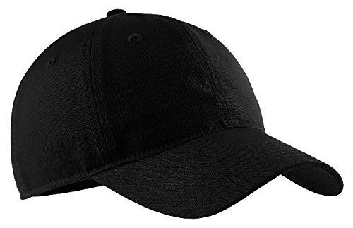 (Port & Company Soft Brushed Canvas Cap. CP96 Black)