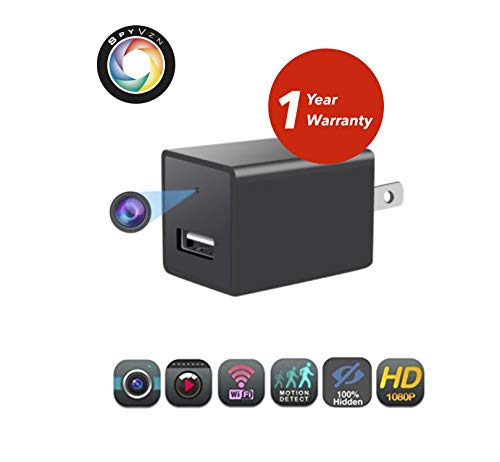 Protect What's Valuable: Hidden Wireless Spy Camera, WiFi USB Wall Charger Nanny Camera, Tiny Mini Home Security Monitoring Cam with Cell Phone App, Motion Detection, 32GB SD Card Included
