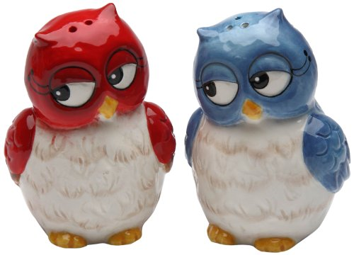 Cosmos Gifts 10907 Owl Couple Salt and Pepper Set, 3-Inch (Angels Snowman Night Light)