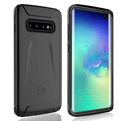 Samsung Galaxy S10+ Plus Case, FXXXLTF Slim Fit Full Body Case Heavy Duty Ultra Rugger Enhanced Frame Shockproof Dropproof Anti-Scratch Armor Protection Cover Case for Galaxy S10 Plus 2019(Black)