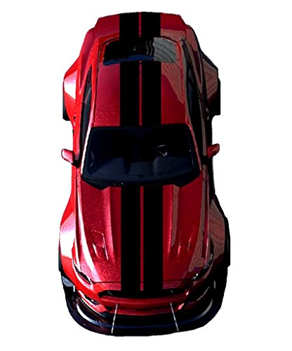 10 Inch Rally Stripes - Clausen's World Double 10 Inch Center Vinyl Rally Racing Stripes, Fits Ford Mustang and Shelby, Black Matte