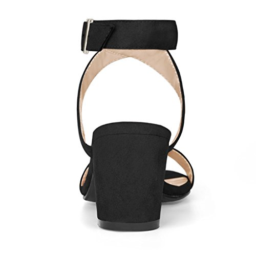 Allegra Cross Black Heels K Block Strap Ankle Women's Rrwnp8qErT