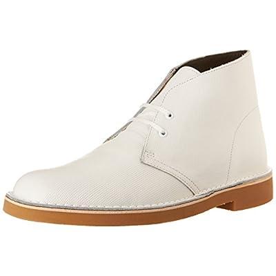 Clarks Men's Bushacre 2 Chukka Boot, White Perforated, 9 M US/42 EU   Chukka