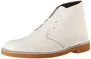 Clarks Men's Bushacre 2 Chukka Boot, White Perforated, 8 M US/41 EU (B013DICC06) | Amazon price tracker / tracking, Amazon price history charts, Amazon price watches, Amazon price drop alerts