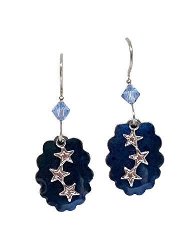 Silver Forest of Vermont Falling Star Midnight Blue Earrings Made in (Falling Star Earrings)