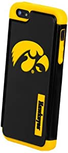 Forever Collectibles NCAA Iowa Hawkeyes Dual Hybrid Hard Apple iPhone 5 / 5S Case