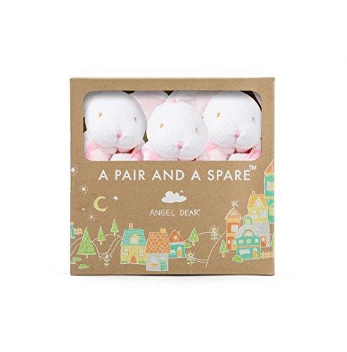 Angel Dear Pair and A Spare, Flower Print Bunny