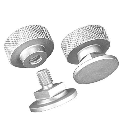 3mirrors Welding Hood (Pipeliner) Helmet Fasteners Aluminum - 1 Pair (Anodized Knurled)